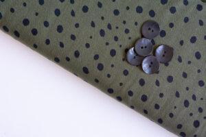 Lyocell Vintage Dots Khaki